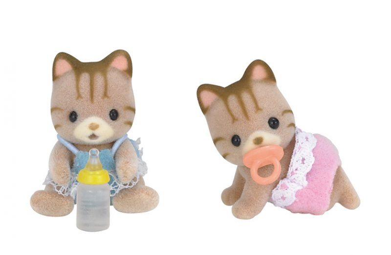 Sylvanian Striped Cat Twins