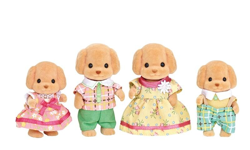 Sylvanian Toy Poodle Family